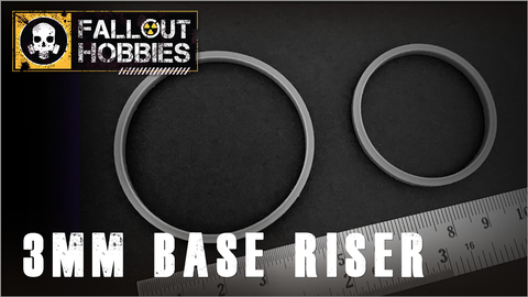 3mm Base Raiser (40mm, 50mm, 60mm)
