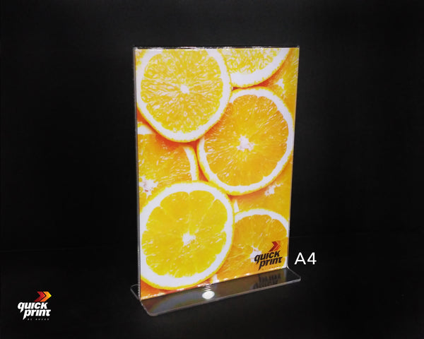 T-Shaped Acrylic Brochure Holder