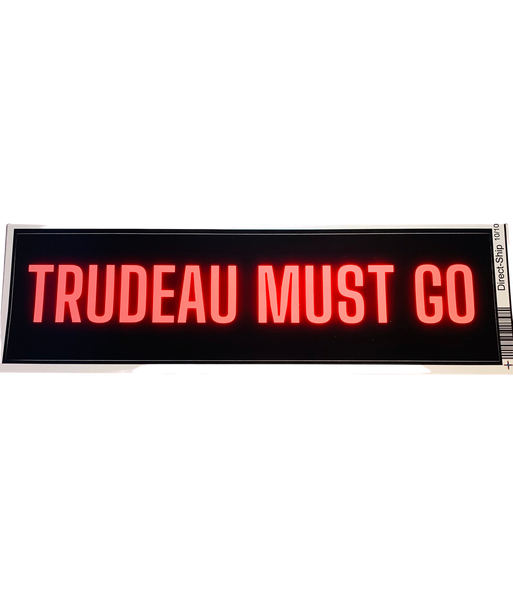 Trudeau Must Go Sticker