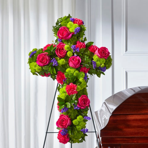The Tribute Rose Floral Cross