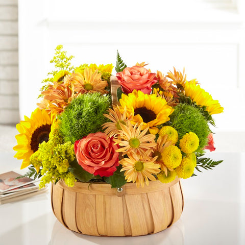 The Harvest Sunflower Basket