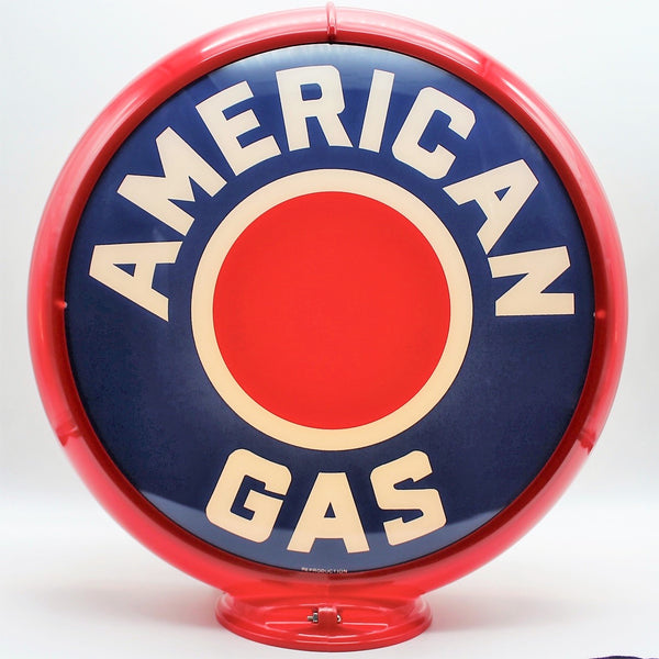 AMERICAN GAS RED DOT Gas Pump Globe Face / Lens