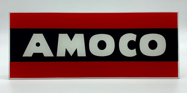 AMOCO Ad Glass Panel
