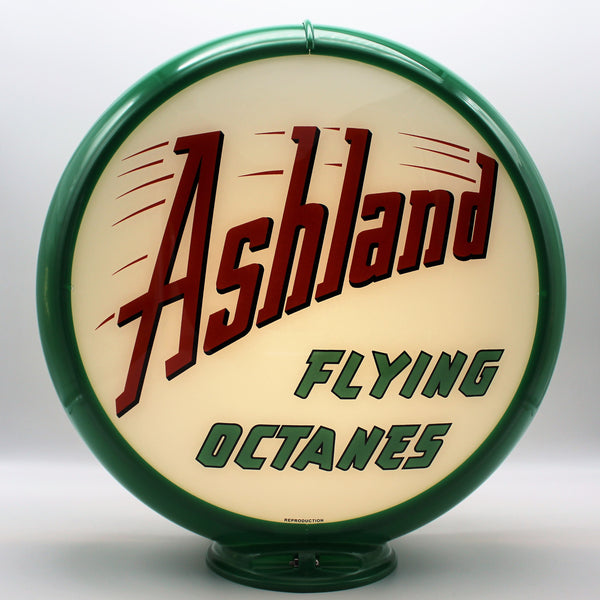 ASHLAND FLYING OCTANES Gas Pump Globe Face / Lens