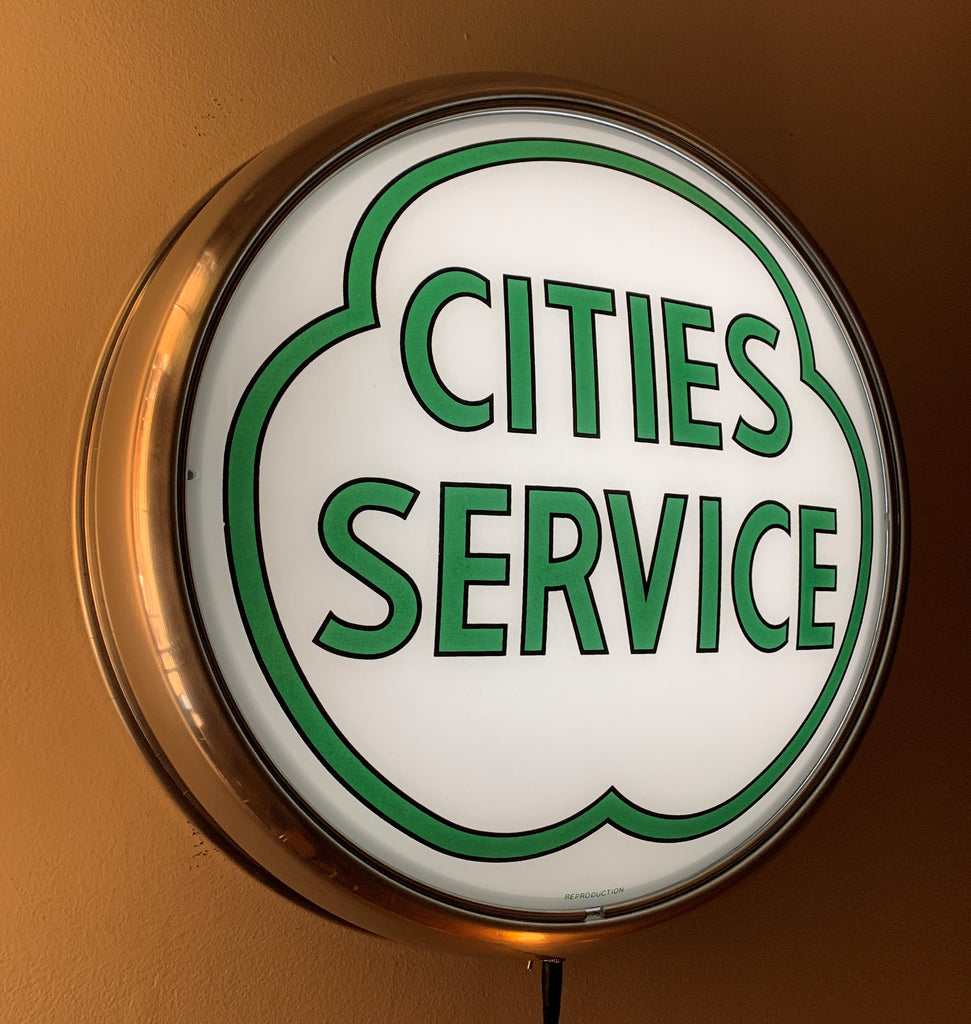 LED Wall Mount - Cities Service Green