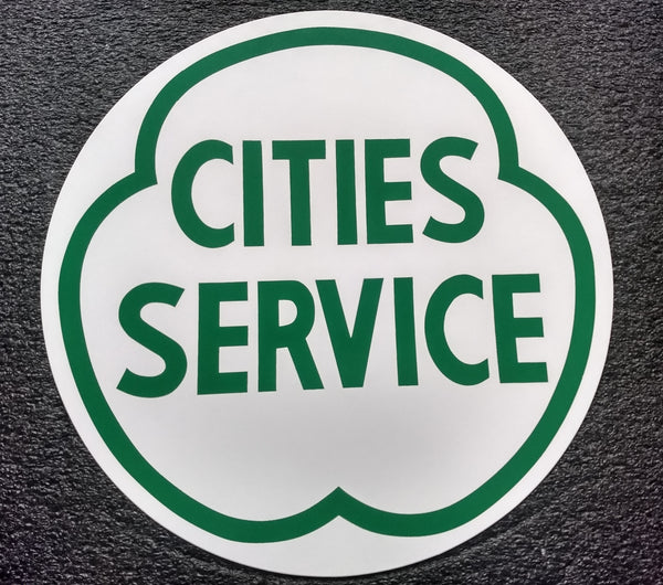 CITIES SERVICE GREEN DECAL-12