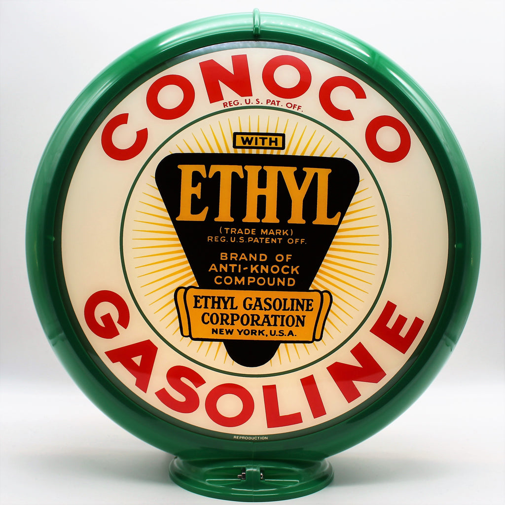 CONOCO ETHYL GASOLINE WHITE 13.5
