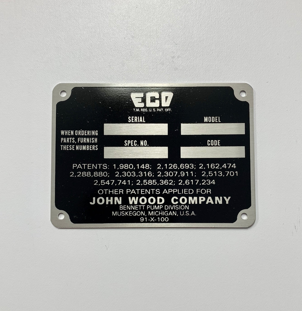ECO Air Hydrant ID Tag