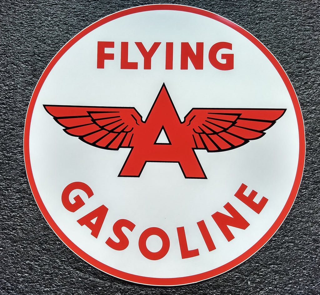 FLYING 'A' DECAL-12 WITH WHITE BACKGROUND