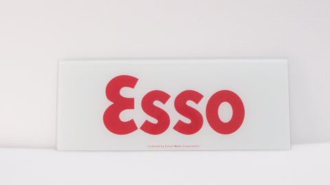 ESSO Ad Glass Panel