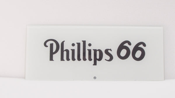 PHILLIPS 66 Ad Glass Panel