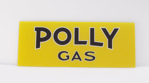 POLLY GAS Ad Glass Panel