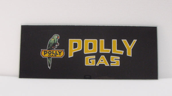 POLLY GAS BIRD Ad Glass Panel