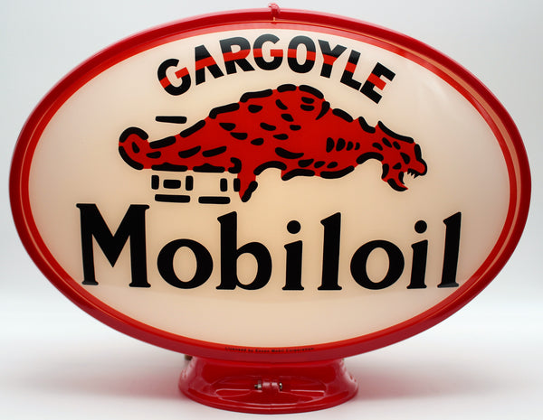 GARGOYLE MOBILOIL Oval Advertising Globe