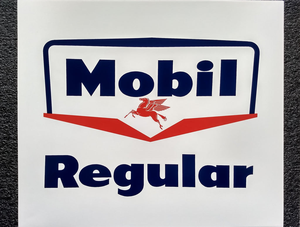 MOBIL REGULAR DECAL - 12 X 14