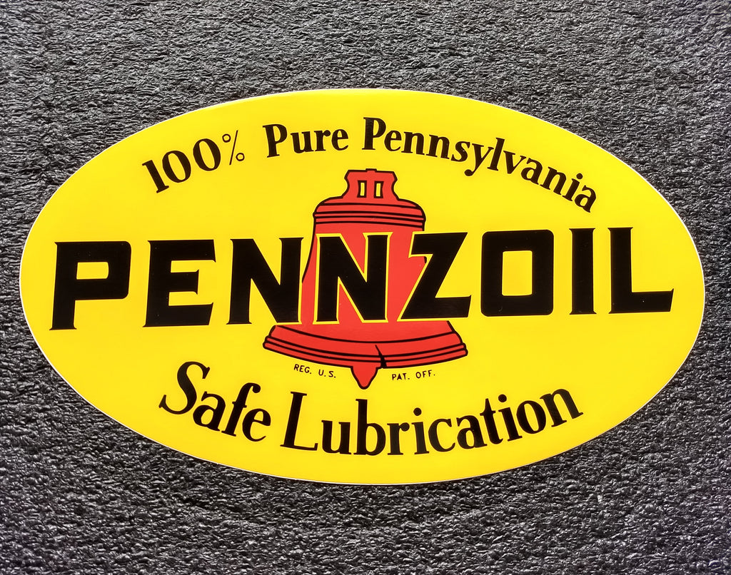 PENNZOIL OVAL DECAL-12
