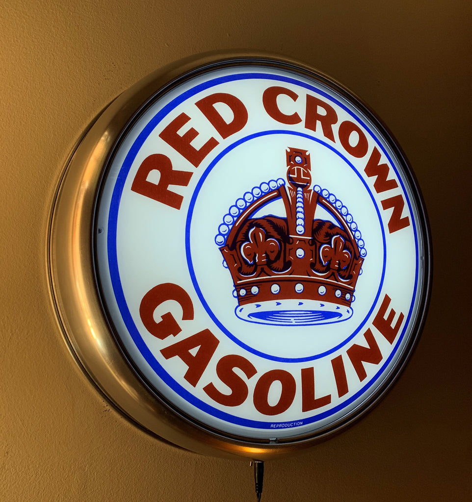 LED Wall Mount - Red Crown Gasoline