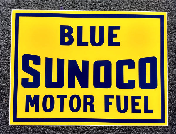 BLUE SUNOCO MOTOR FUEL DECAL 13