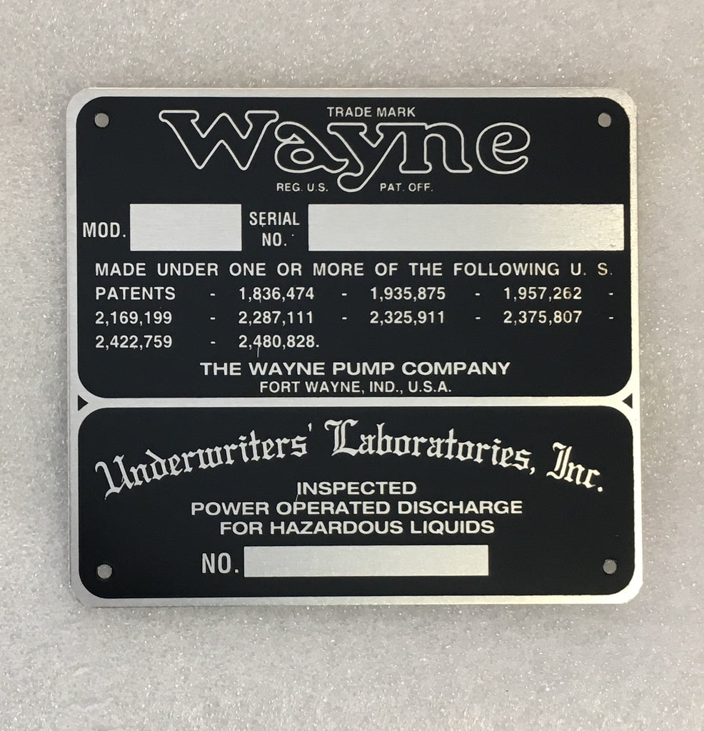 Wayne MODEL I.D. Tag