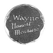 Wayne 70 Honest Measure Button