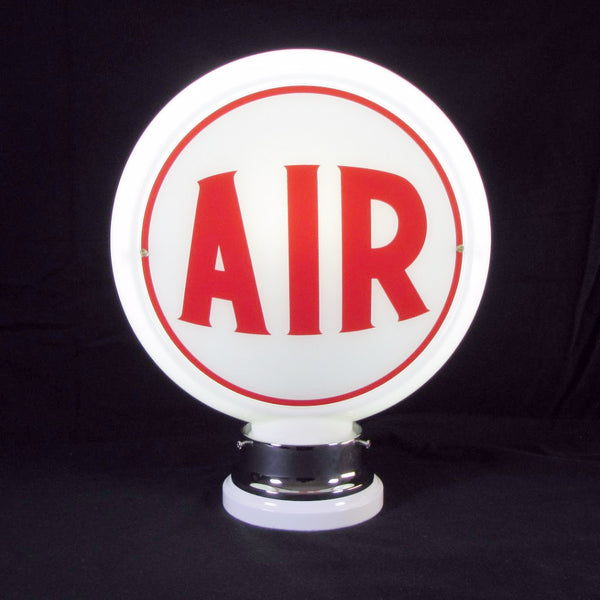 AIR (RED) Glass Body Ad Globe with 10