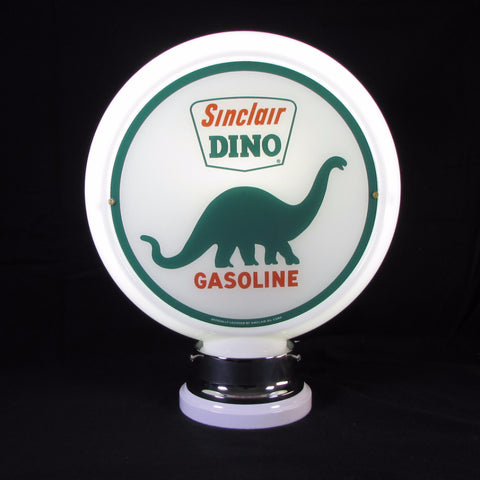 SINCLAIR DINO LARGE ANIMAL Glass Body Ad Globe with 10