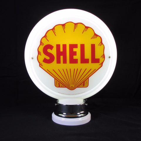 SHELL Glass Body Ad Globe with 10