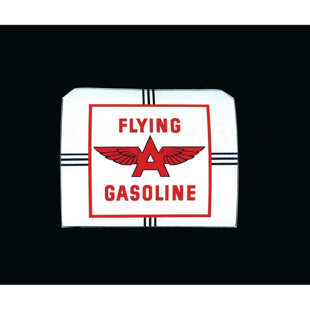 FLYING A GASOLINE Ad Glass Panel for A-38 National Pump