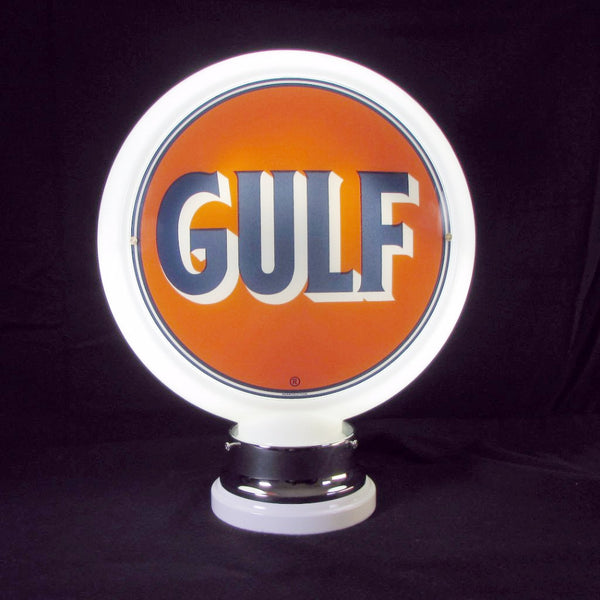 GULF Glass Body Ad Globe with 10