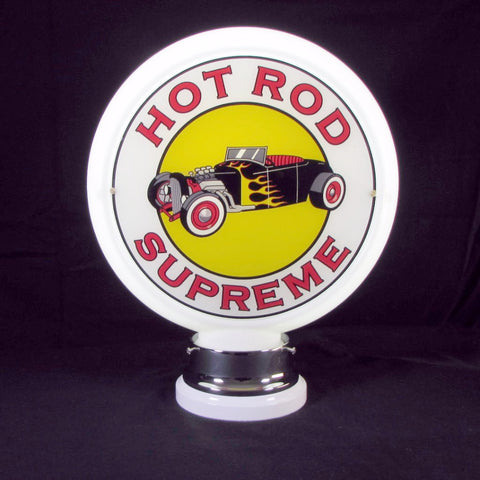 HOT ROD SUPREME Glass Body Ad Globe with 10