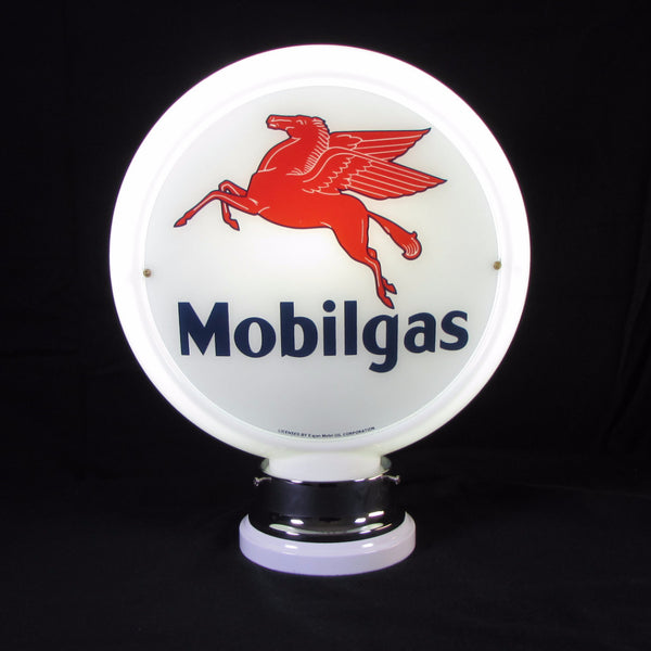 MOBILGAS Glass Body Ad Globe with 10