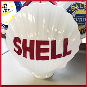 Shell Oil - custom shell glass globe