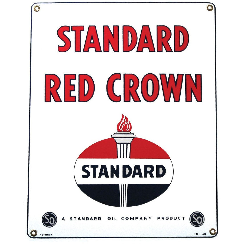 STANDARD RED CROWN die-cut Porcelain Sign