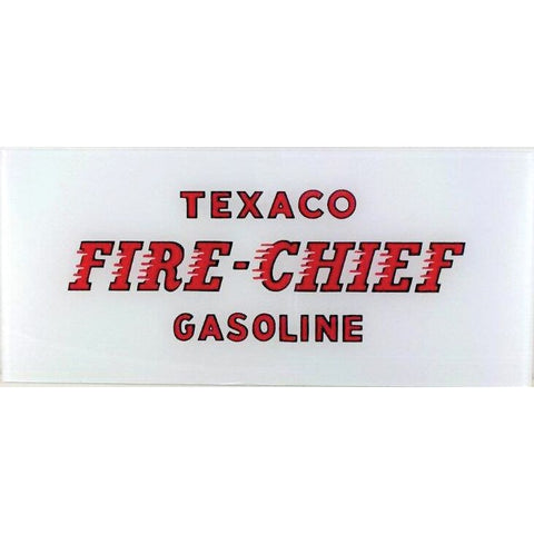 TEXACO FIRE-CHIEF GASOLINE Ad Glass Panel