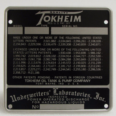 TOKHEIM Raised Edge ID Tag