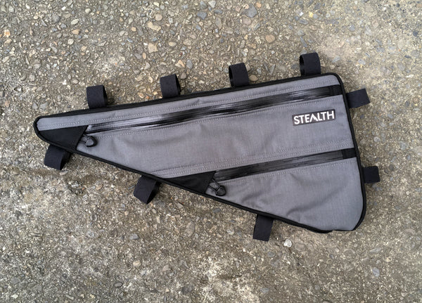 Double zip compartment full frame bag