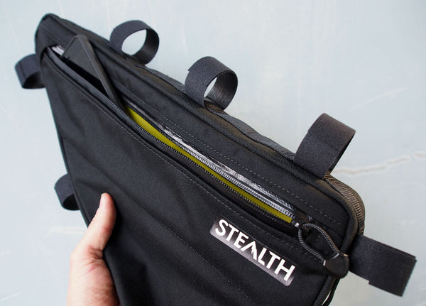 Frame bag flat map pocket