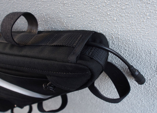Frame bag H20 cable port