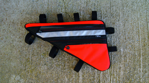 Blaze orange frame bag