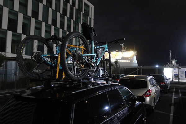 Waiting in line for the overnight ferry