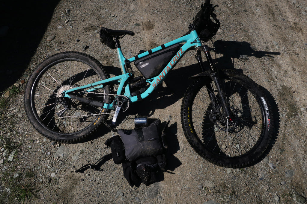 Santa Cruz Bronson set up for overnight bikepacking