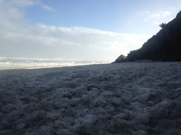 Sea foam at Heaphy Beach