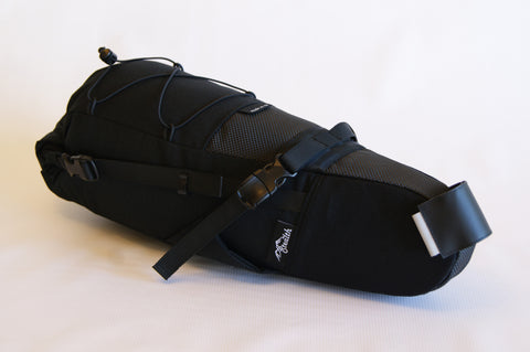 Pack Mule Black, bikepacking seat bag