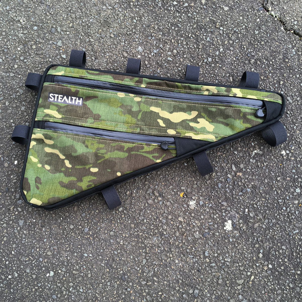 Multicam Tropic custom frame bag for surly