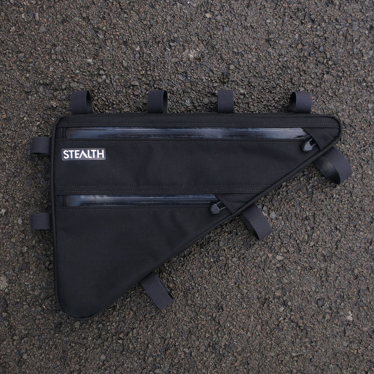 Black frame bag for riding the TA