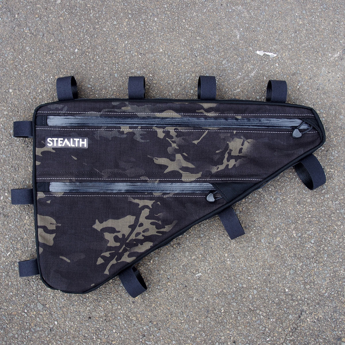 Multicam frame bag for touring bicycle