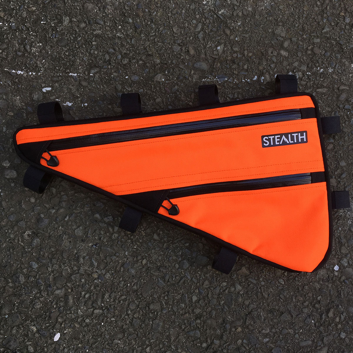 Orange frame bag custom made to fit