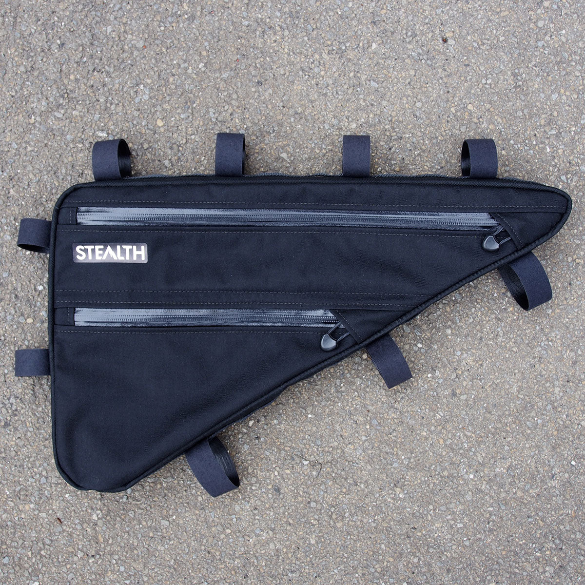Black frame bag for MTB