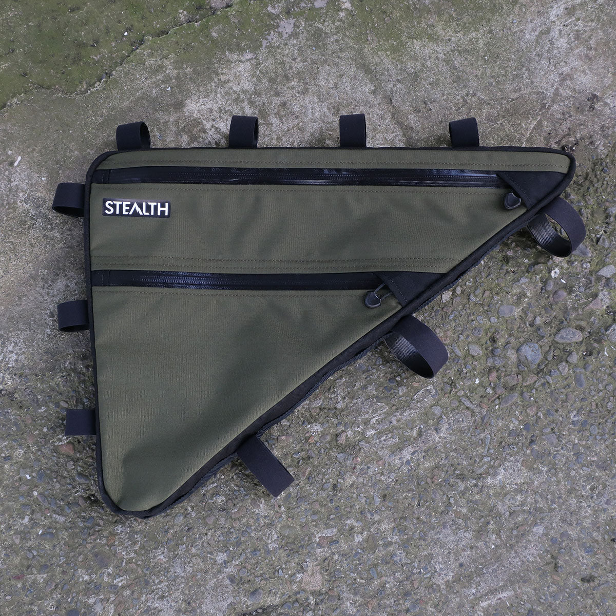 Custom olive frame bag