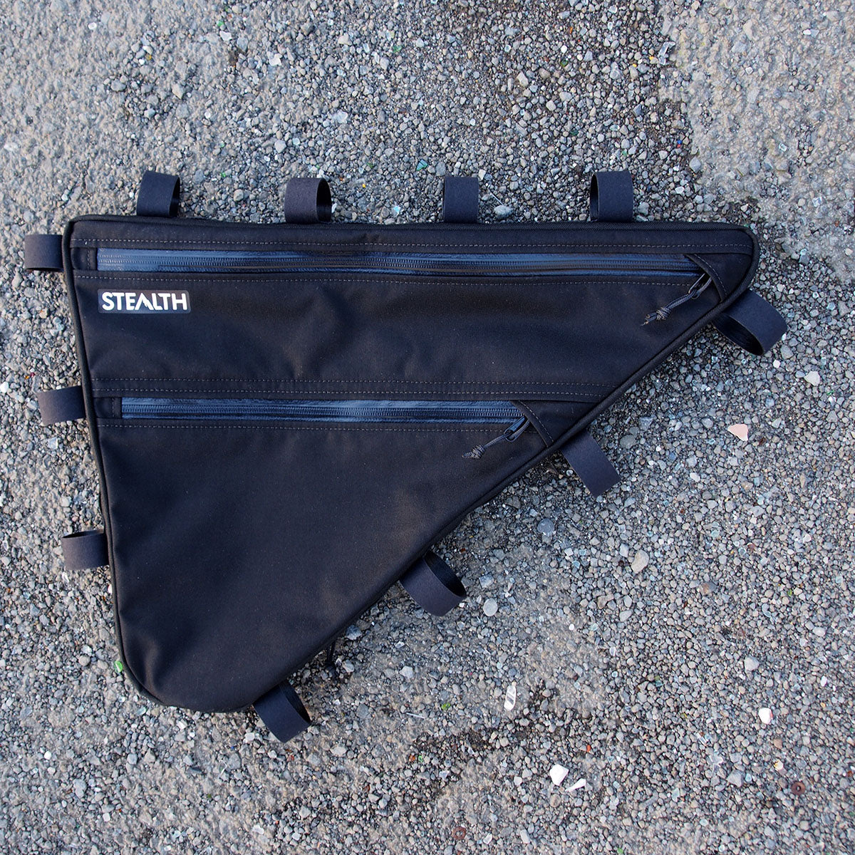 Custom frame bag for touring bike